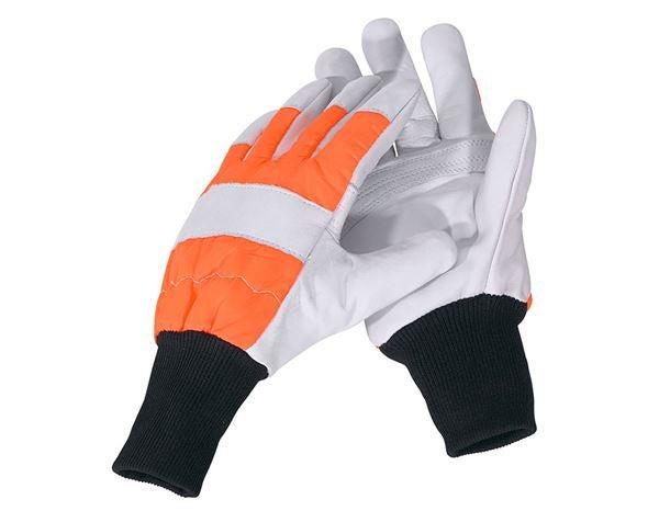Usnjene gozdarske rokavice za