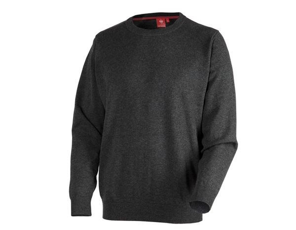 e.s. pleteni pulover, okrogli izrez