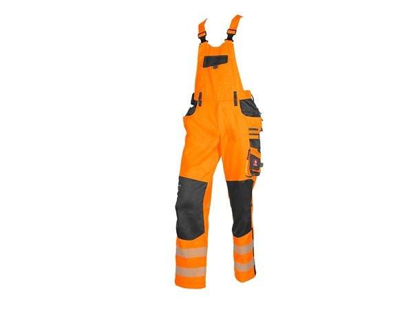 Opozorilne zaščitne hlače z oprsnikom e.s.motion