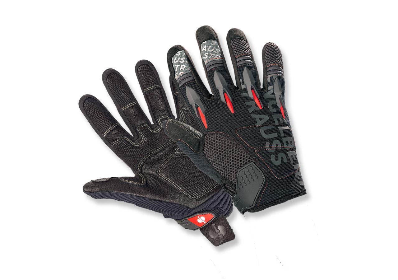 Accessoires: e.s. Kinder Mechaniker Handschuhe Viper + schwarz/rot