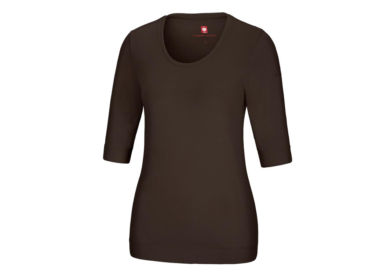 Shirts & Co.: Shirt 3/4-Arm cotton stretch, Damen + kastanie