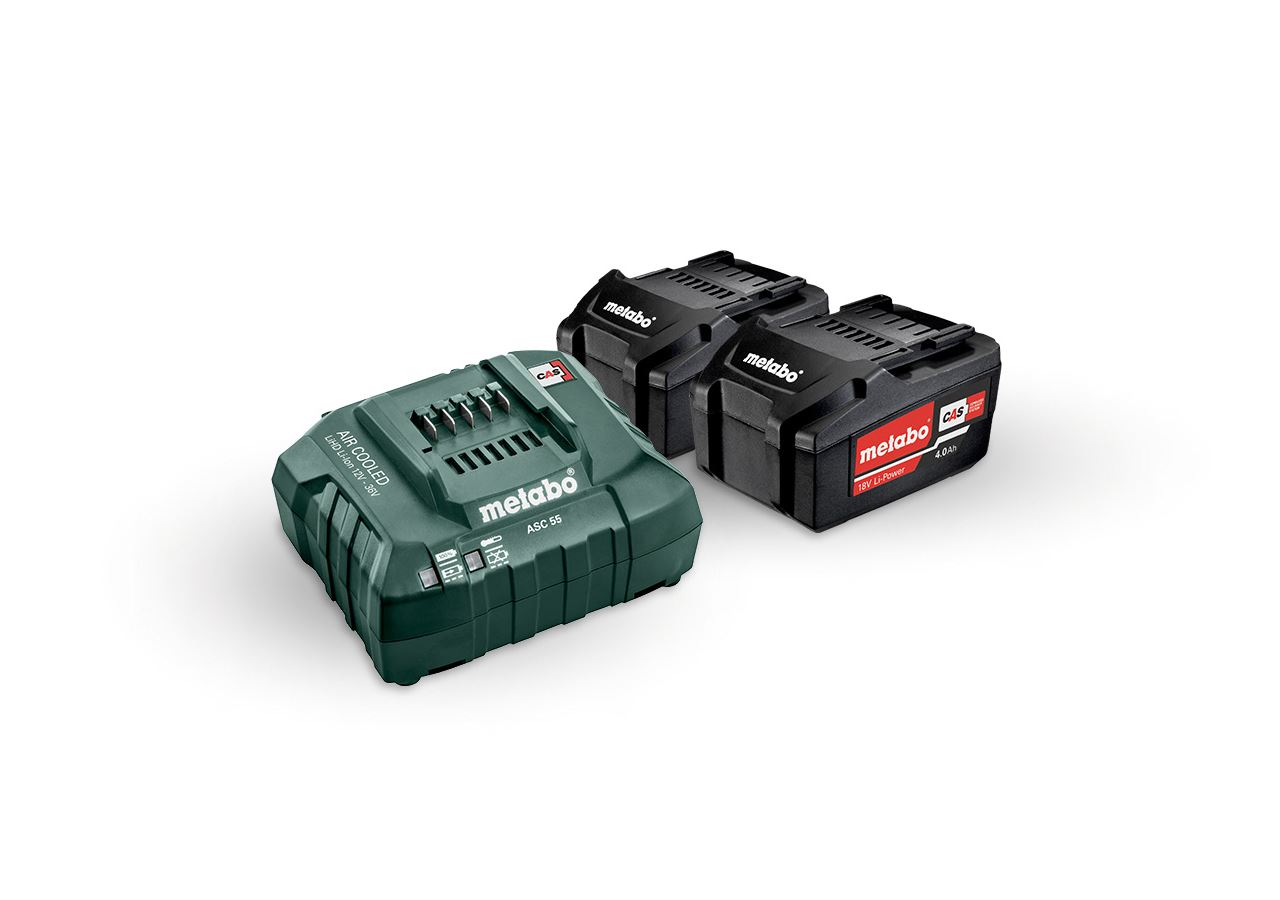 Elektrowerkzeuge: Metabo Akku-Pack 2x 4,0 Li-Ion Akkus + Ladegerät