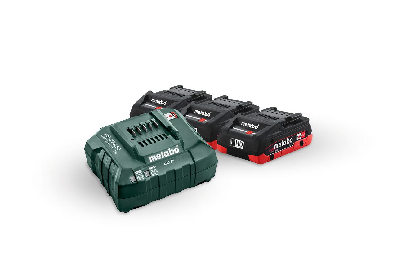 Elektrowerkzeuge: Metabo Akku-Pack 3x 4,0 LiHD Akkus + Ladegerät