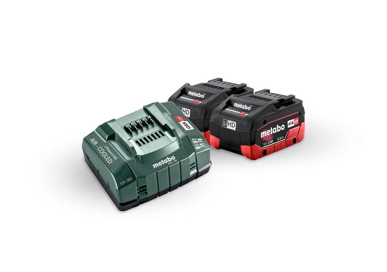 Elektrowerkzeuge: Metabo Akku-Pack 2x 5,5 LiHD Akkus+Ultra-Ladegerät
