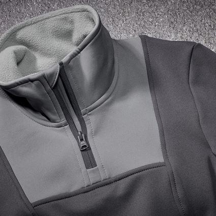 Shirts & Co.: Funktions-Troyer thermo stretch e.s.concrete,Damen + anthrazit/perlgrau 2