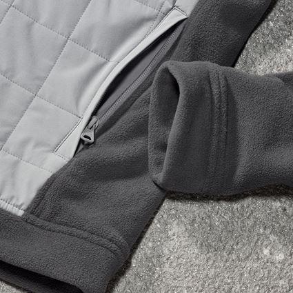 Jacken: Hybrid Kapuzenfleecejacke e.s.concrete + anthrazit/perlgrau 2