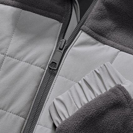 Jacken: Hybrid Fleecejacke e.s.concrete, Damen + anthrazit/perlgrau 2