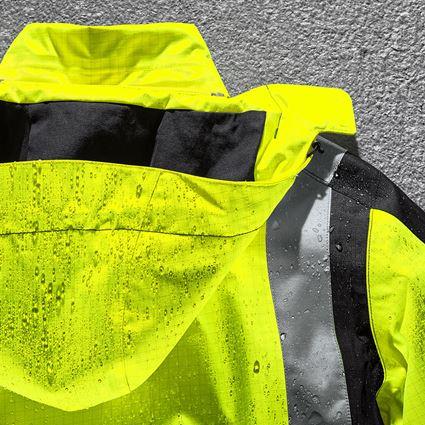 Jacken: e.s. Wetterschutzparka multinorm high-vis + warngelb/schwarz 2