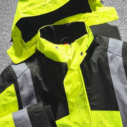 Jacken: e.s. Wetterschutzjacke multinorm high-vis + warngelb/schwarz 2