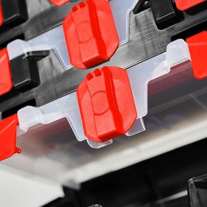 Werkzeugkoffer: STRAUSSbox mini + schwarz/rot 2