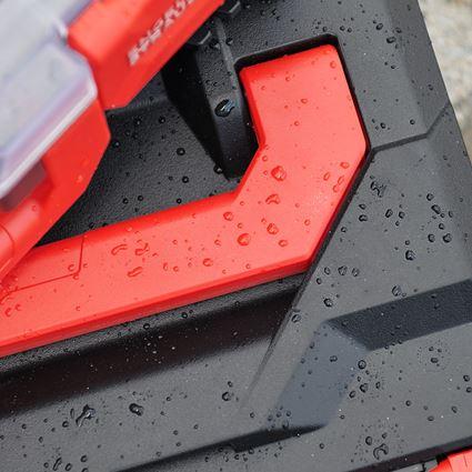 Werkzeugkoffer: STRAUSSbox 215 midi + schwarz/rot 2