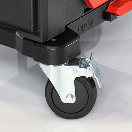Werkzeugkoffer: STRAUSSbox Cart + schwarz/rot 2