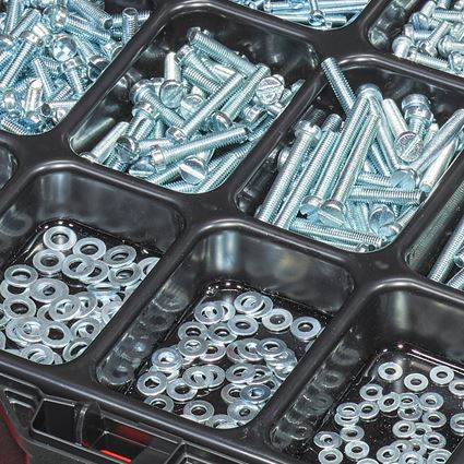 Schrauben: Gewindeschrauben ISO 1207 in STRAUSSbox 118 midi 2