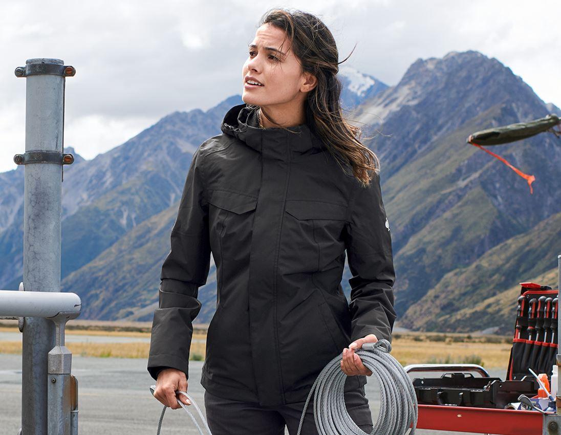 Jacken: Regenjacke e.s.concrete, Damen + schwarz