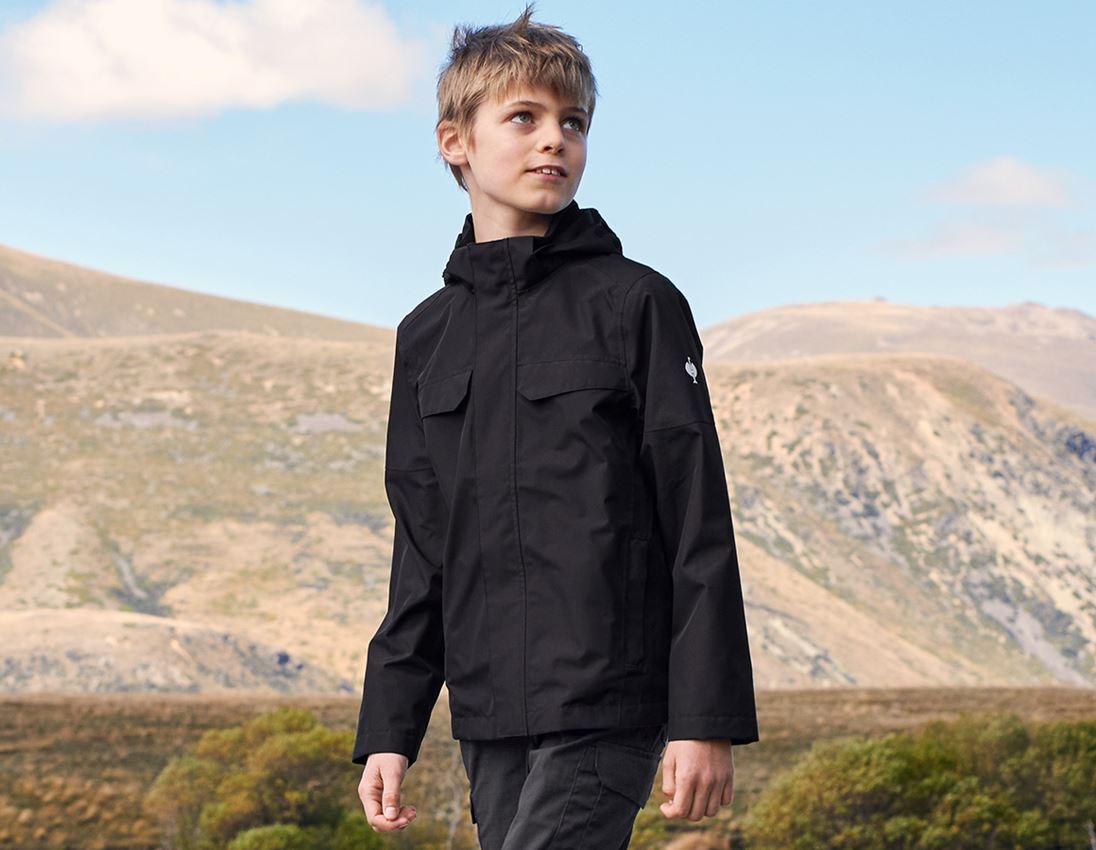 Jacken: Regenjacke e.s.concrete, Kinder + schwarz