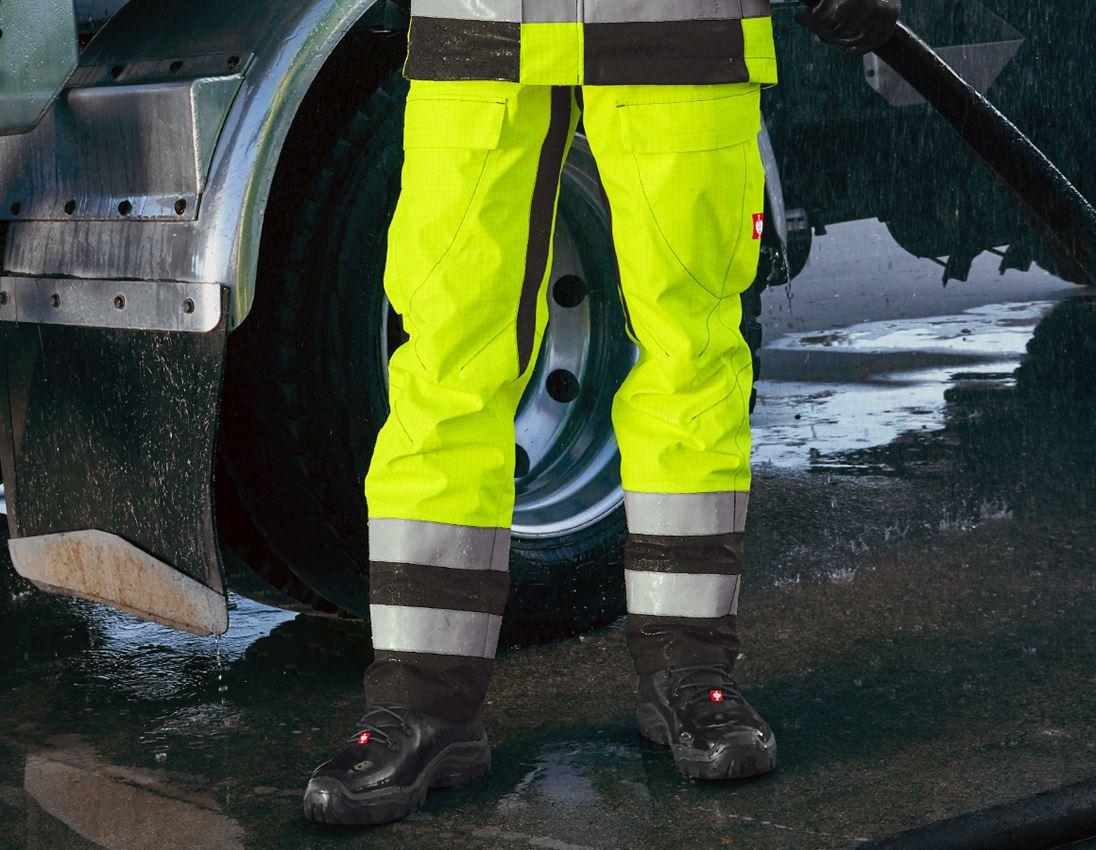 Hosen: e.s. Wetterschutzbundhose multinorm high-vis + warngelb/schwarz