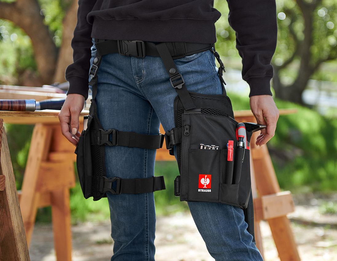 Accessoires: e.s. Gürtel Legpack + schwarz