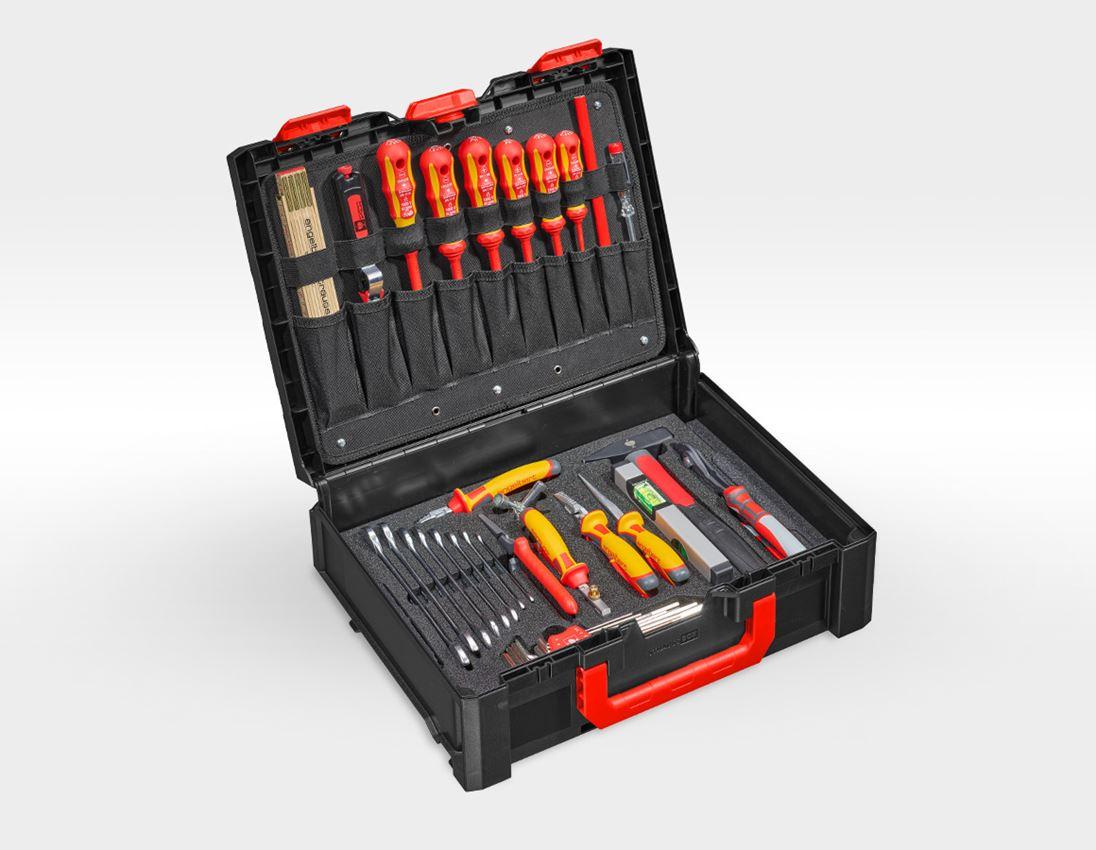 Werkzeugkoffer: STRAUSSbox Werkzeug-Set 145 Elektro