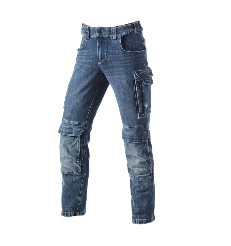 Hosen: Cargo Worker-Jeans e.s.concrete + stonewashed