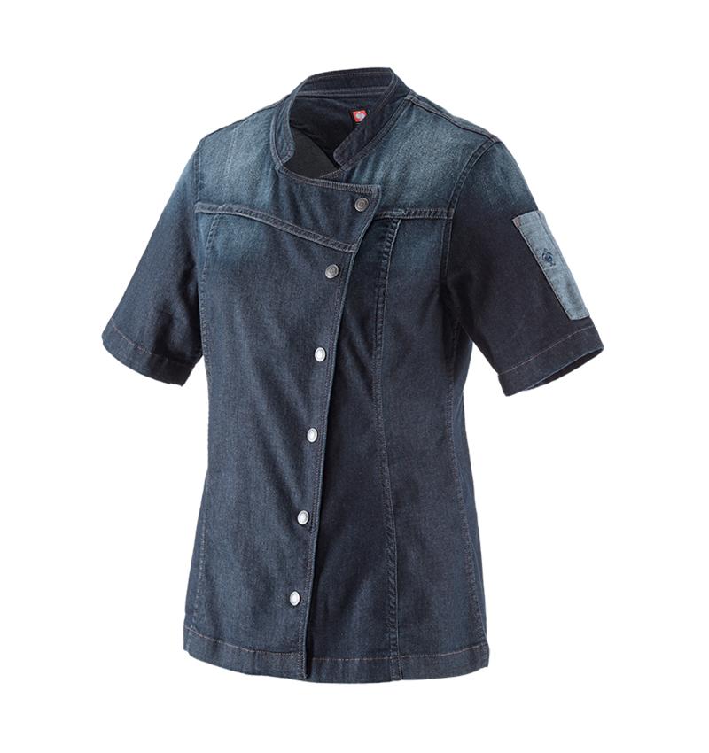 Shirts & Co.: e.s. Kochjacke denim, Damen + mediumwashed