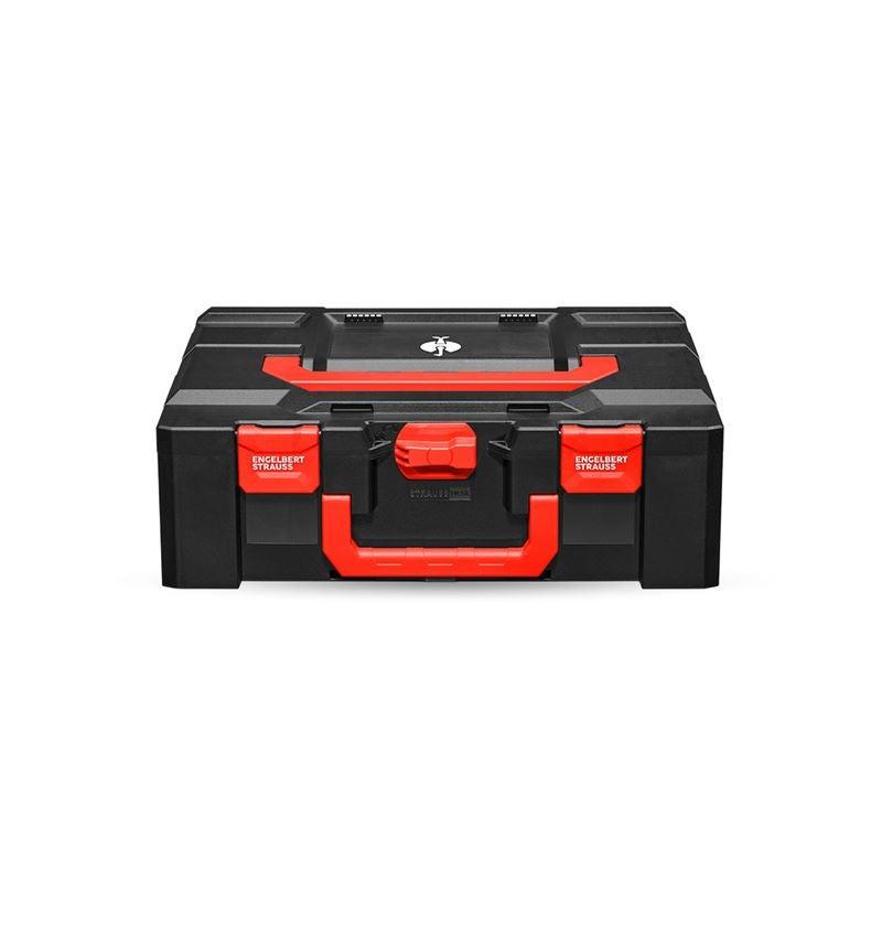 Werkzeugkoffer: STRAUSSbox 165 large + schwarz/rot