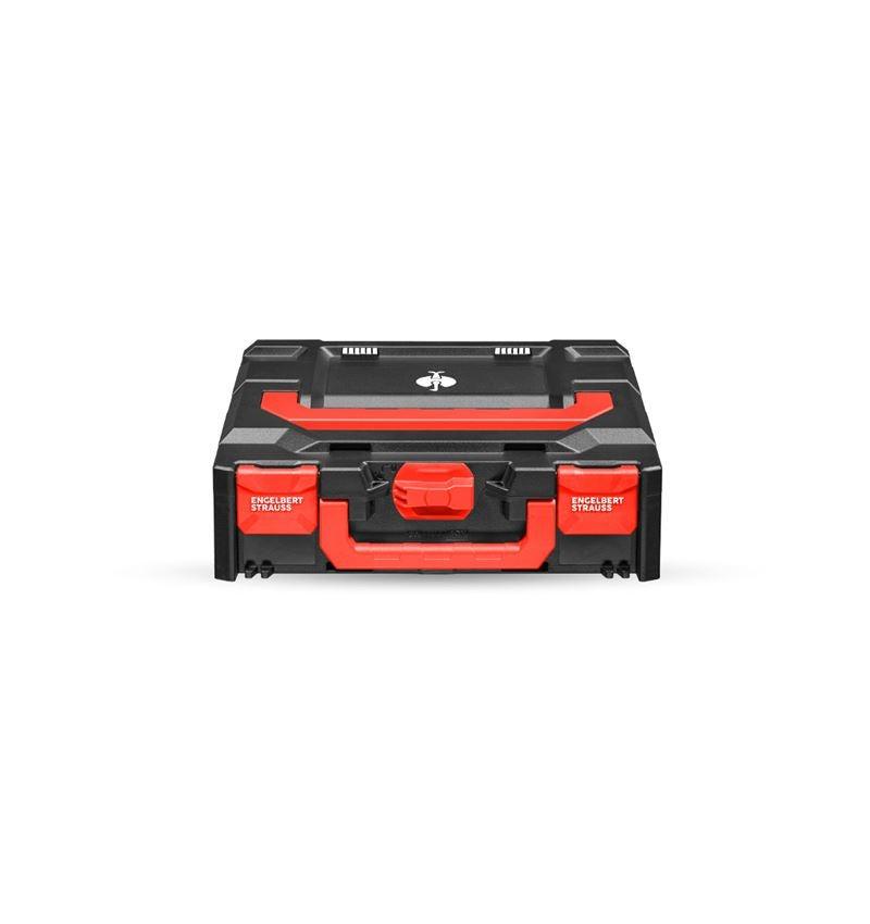 Werkzeugkoffer: STRAUSSbox 118 midi + schwarz/rot