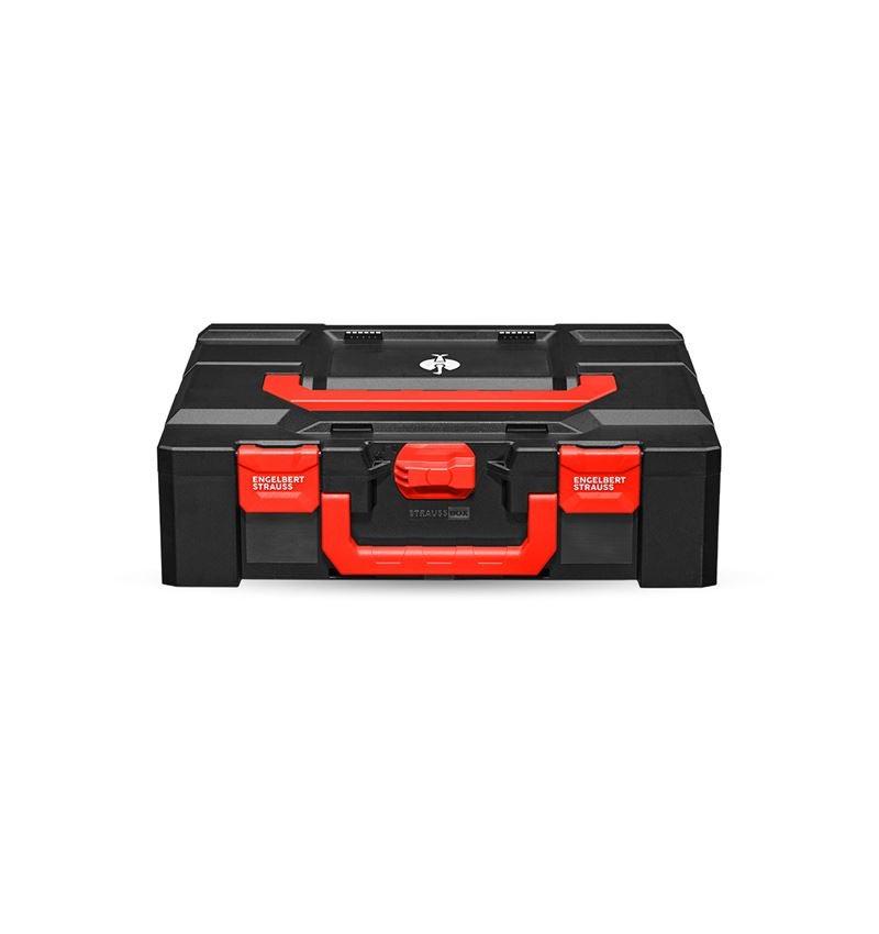 Werkzeugkoffer: STRAUSSbox 145 large + schwarz/rot