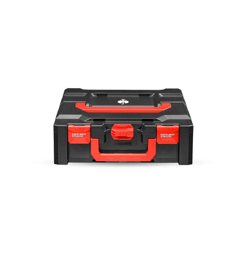 Werkzeugkoffer: STRAUSSbox 145 midi+ + schwarz/rot