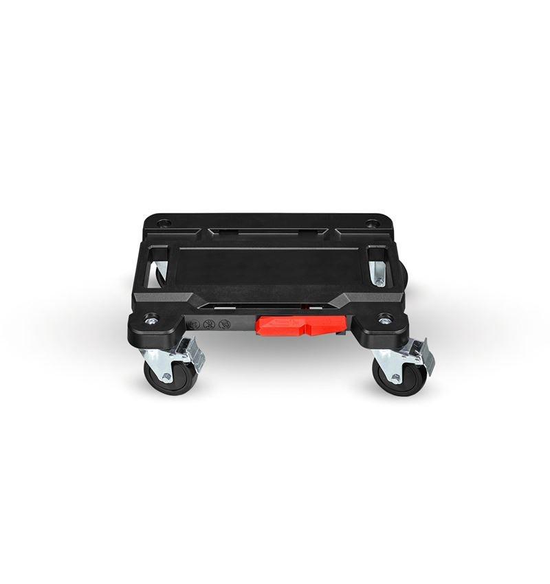 Werkzeugkoffer: STRAUSSbox Cart + schwarz/rot