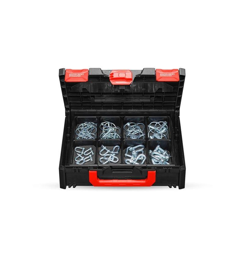 Kleinteile-Sortimente: Klappspinte und Schäkel in STRAUSSbox 118 midi