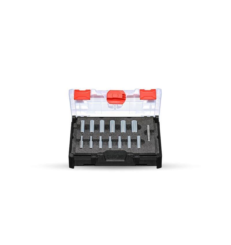 Steckschlüssel: Steckschlüssel-Satz 1/4 lang in STRAUSSbox mini