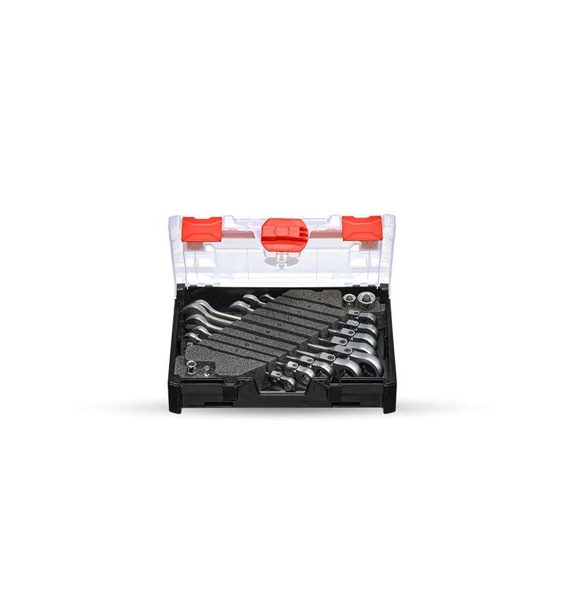 Schraubenschlüssel: Ratch-Tech-Satz mit Gelenk in STRAUSSbox mini