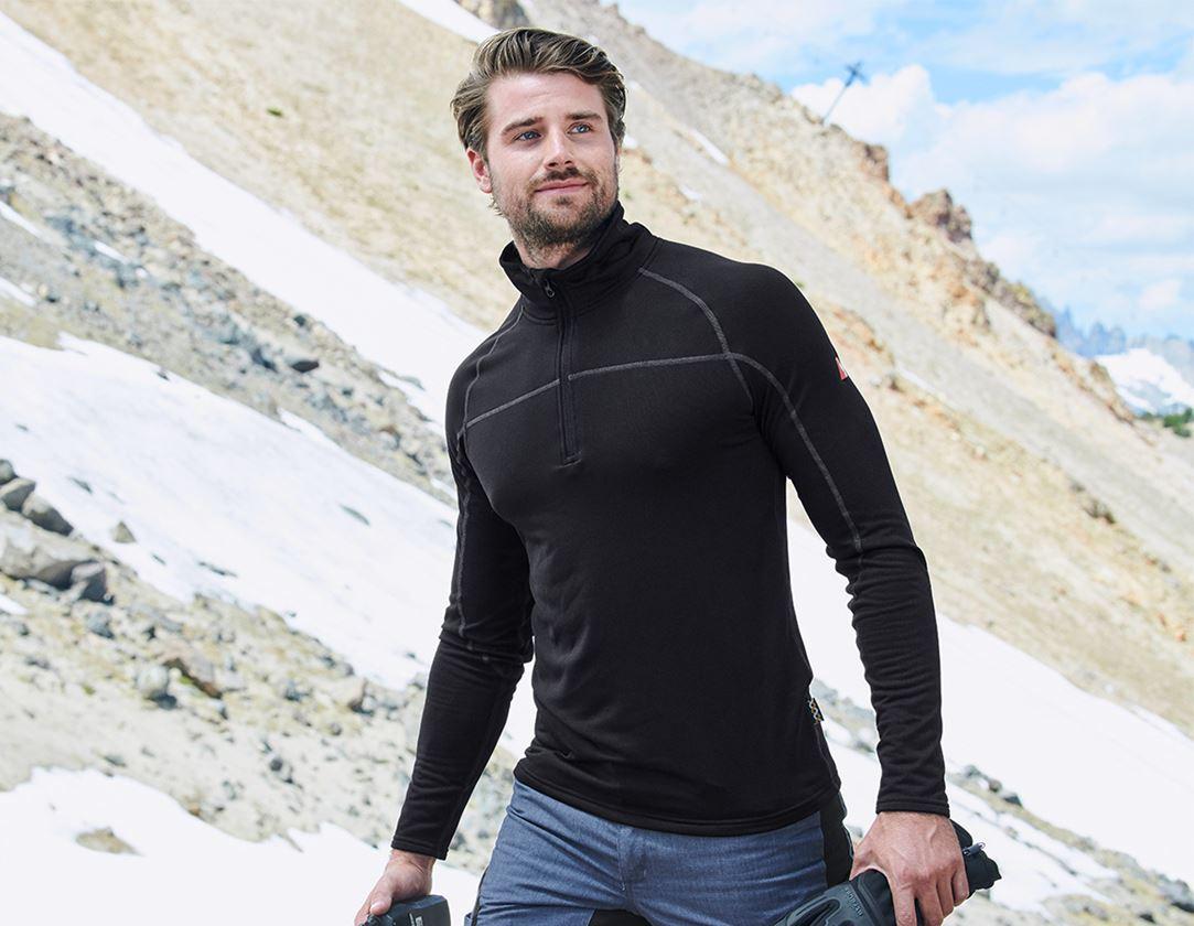 Shirts & Co.: e.s. Troyer clima-pro + schwarz