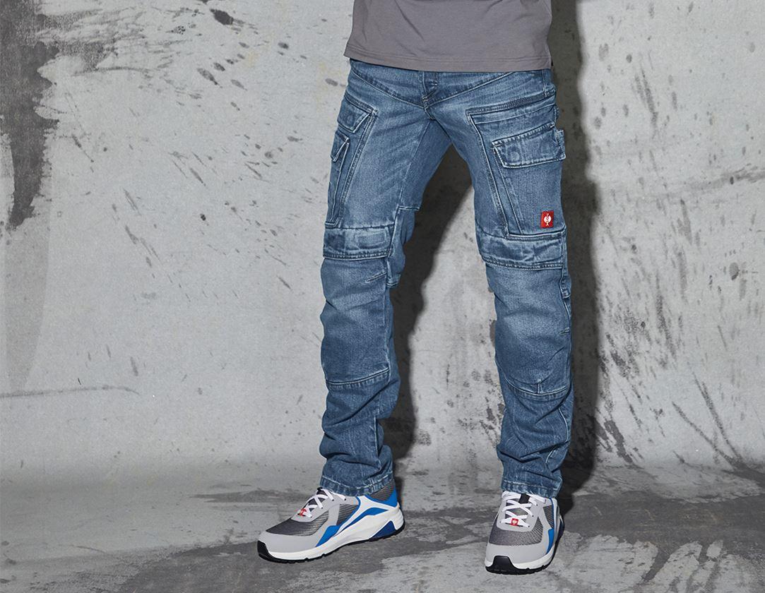 Hosen: e.s. Cargo Worker-Jeans POWERdenim + stonewashed
