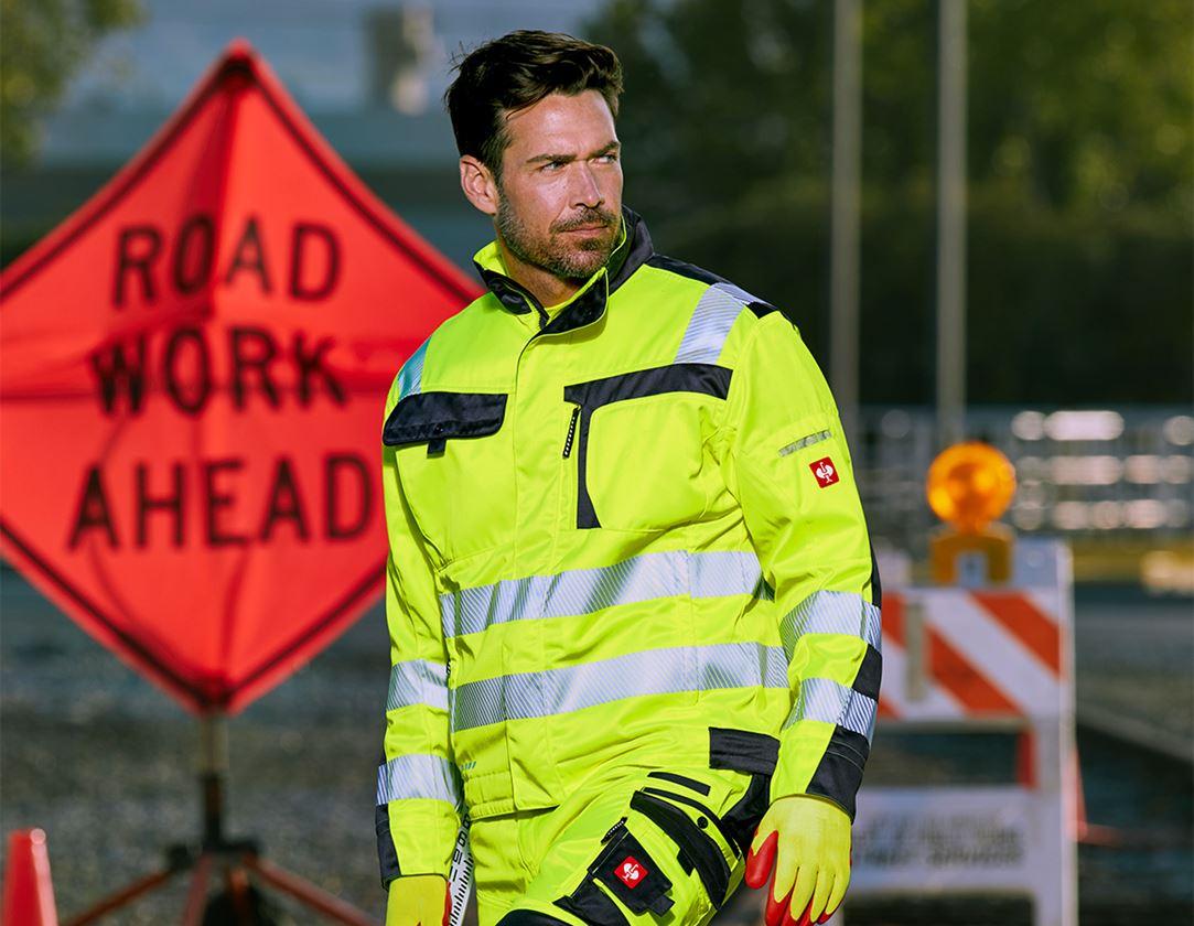 Jacken: Warnschutz-Jacke e.s.motion + warngelb/anthrazit