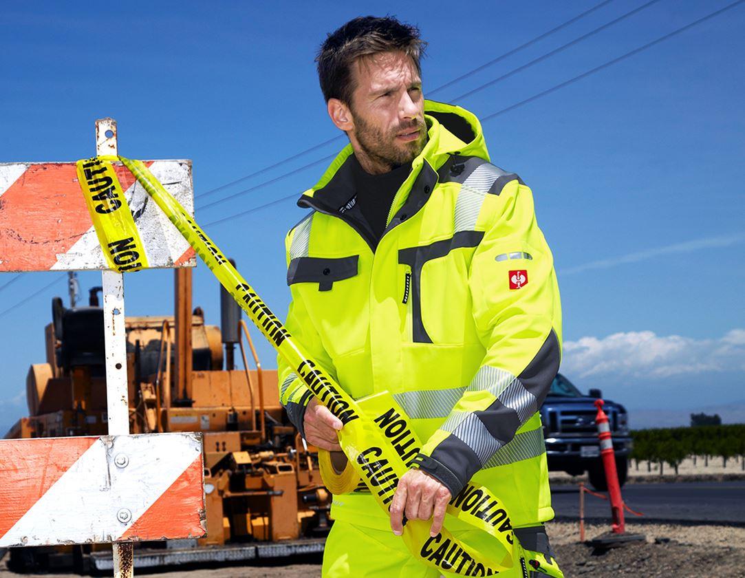 Jacken: Warnschutz-Softshell-Jacke e.s.motion + warngelb/anthrazit