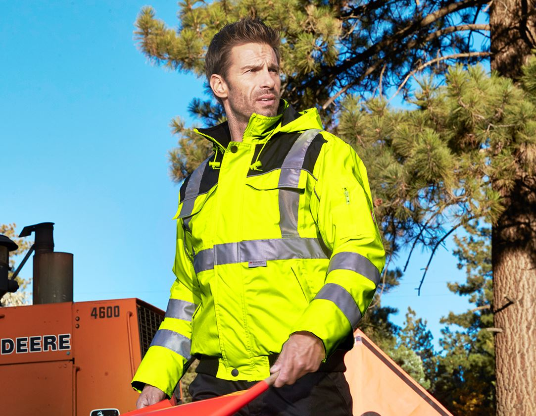 Jacken: Warnschutz-Pilotenjacke e.s.image + warngelb