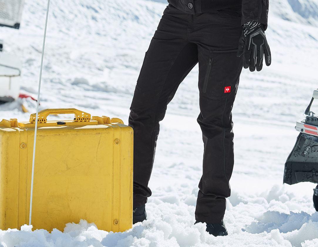 Hosen: Winter-Damenhose e.s.vision + schwarz