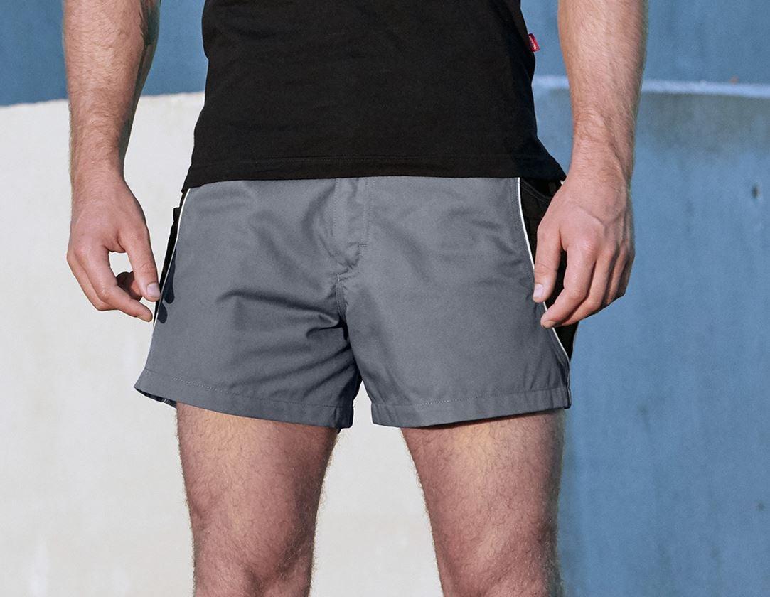 Hosen: X-Short e.s.active + grau/schwarz