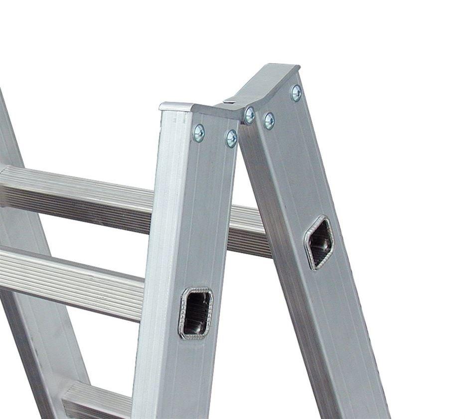 Leitern: KRAUSE Alu-Sprossen-Doppelleiter