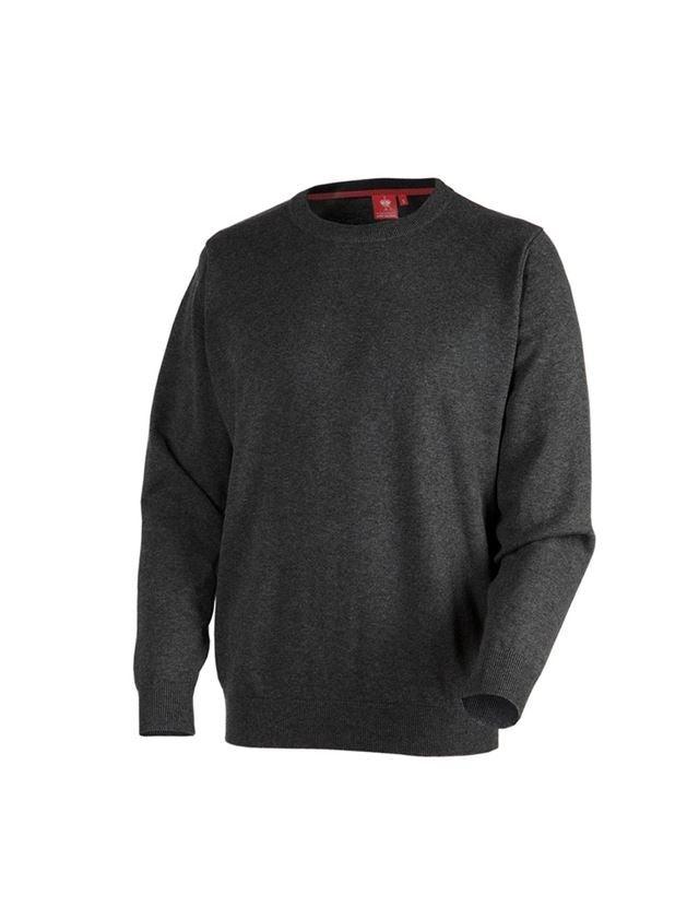 Shirts & Co.: e.s. Strickpullover, rundhals + graphit melange