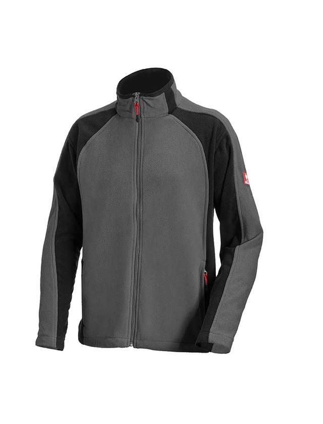 Jacken: Microfleece Jacke dryplexx® micro + anthrazit/schwarz