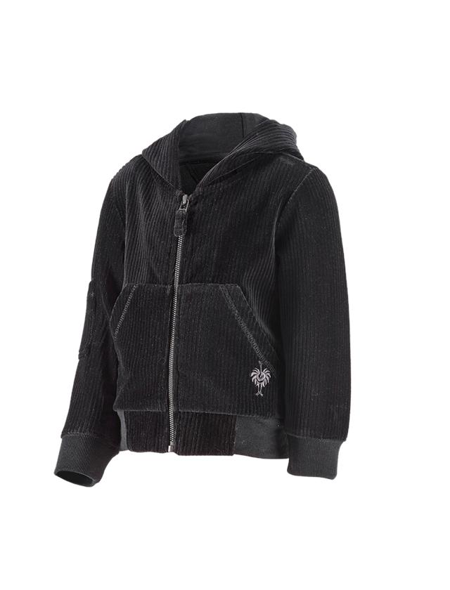 Accessoires: e.s. Homewear-Jacke, Kinder + schwarz