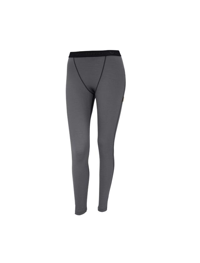 Funktionsunterwäsche: e.s. Long-Pants Merino, Damen + zement/graphit
