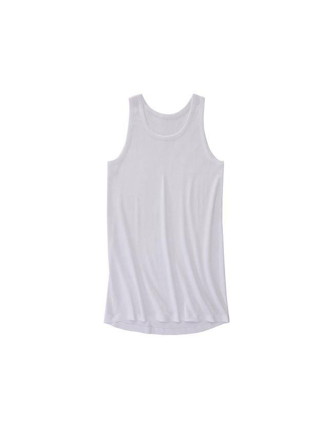 Unterwäsche   Thermokleidung: e.s. Unterhemd Grobripp classic extra long + weiß