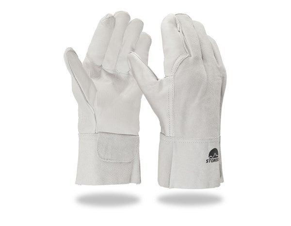 Usnjene varilske rokavice, kratke