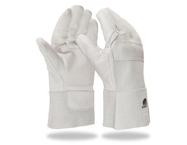Usnjene varilske rokavice, ojačene