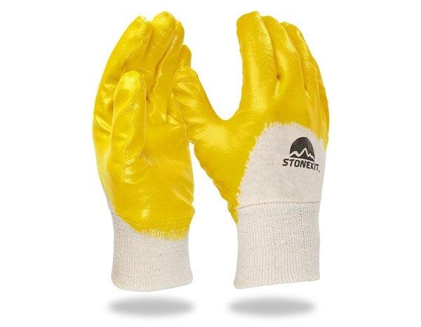 Nitrilne rokavice Basic, delno premazane,12-delno