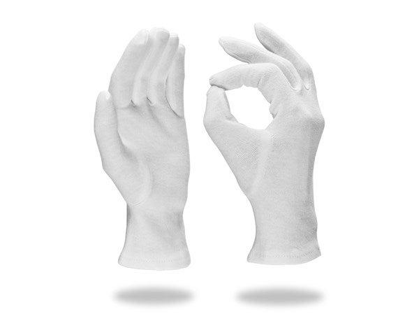Rokavice iz trikoja,bele, 12-delno
