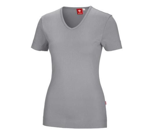 e.s.Ženska majica s kratkimi rokavi cotton V-izrez